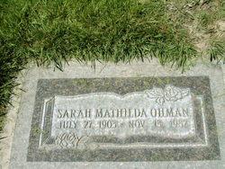 Sarah Mathilda Ohman