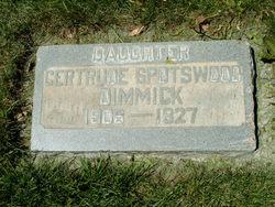 Gertrude <I>Spotswood</I> Dimmick