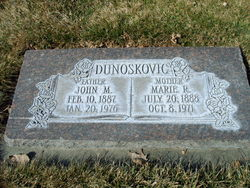 Marie <I>Rudmann</I> Dunoskovic