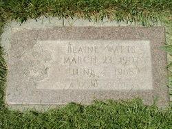 Blaine Watts