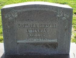 Barbara <I>Hirschi</I> Kleinman