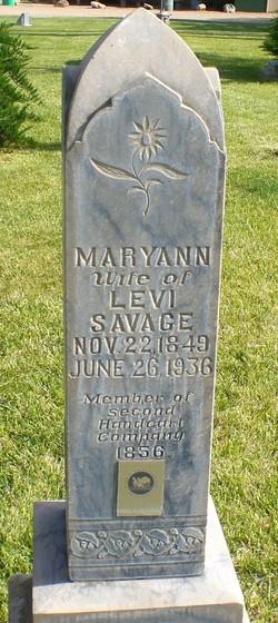 Mary Ann <I>Cooper</I> Savage