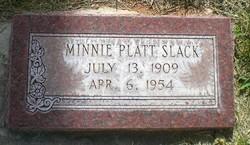 Minnie <I>Platt</I> Slack