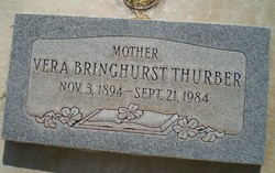 Vera <I>Bringhurst</I> Thurber
