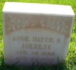 """Anne Hattie """"Annie"""" <I>Staheli</I> Averett"""