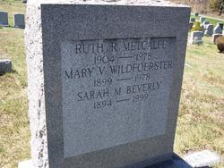 Ruth Rosa <I>Walsh</I> Metcalfe