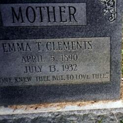 Emma Thomas <I>Tomlin</I> Clements