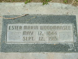 """Ester Maria """"Ettie"""" <I>Parr</I> Woodmansee"""