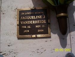 """Jacqueline  Janice """"Jackie"""" Vanderheide"""