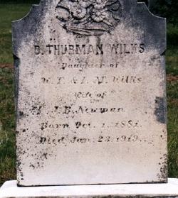 Duckey Thurman <I>Wilkes</I> Newman