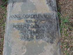 Annie Cordelia <I>Lowe</I> Blanks