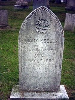 Mary <I>Keeler</I> Sawyer