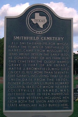 smithfield cemetary texas death records