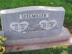 Paul Carroll Seegmiller