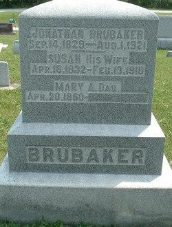 "Susanna ""Susan"" <I>Frantz</I> Brubaker"