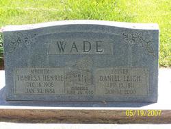 Theresa <I>Henrie</I> Wade