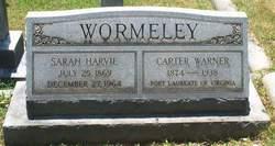 Sarah <I>Harvie</I> Wormeley