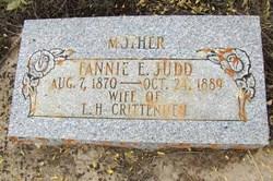 Fannie Elizabeth <I>Judd</I> Crittenden