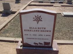 Ella Ruth <I>Kirkland</I> Brown
