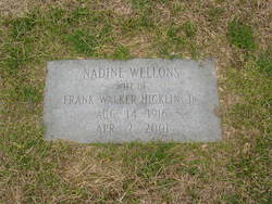 Nadine <I>Wellons</I> Hicklin