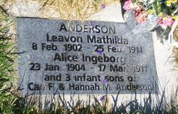 Laevon Mathilda Anderson