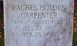 Rachel Holden <I>Carpenter</I> Weeks