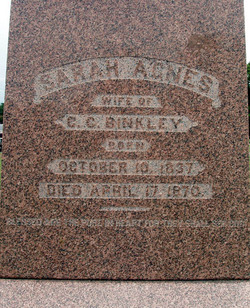 Sarah Agnes <I>Goode</I> Binkley