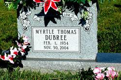 Myrtle Thomas Dubree