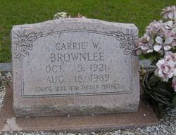 Carrie W <I>Williams</I> Brownlee