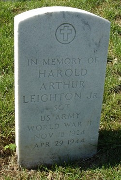 Sgt Harold Arthur Leighton, Jr
