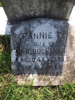 """Tabitha Frances """"Fannie"""" <I>Tillotson</I> Buchanan"""
