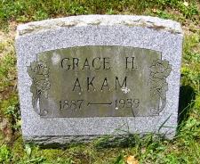 Grace Evangeline <I>Hudson</I> Akam