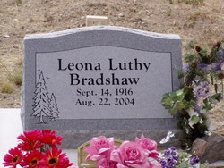 """Leona """"Bean"""" <I>Luthy</I> Bradshaw"""