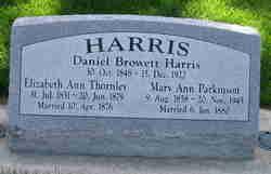 Elizabeth Ann <I>Thornley</I> Harris