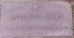 Anna Jane <I>Lovingood</I> Aaron