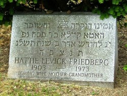 Hattie <I>Levick</I> Friedberg