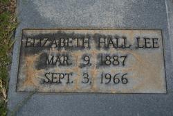 Elizabeth <I>Hall</I> Lee