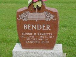 Bonnie M. <I>Ramseyer</I> Bender