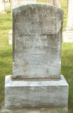 Carrie J. <I>Cook</I> Burroughs