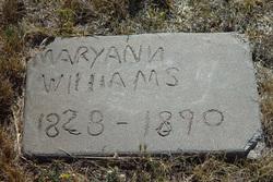 """Mary Ann """"Polly"""" <I>Crawford</I> Williams"""