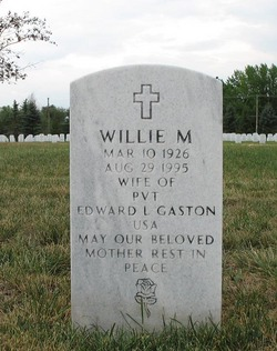 Willie Mae <I>Bailey</I> Gaston