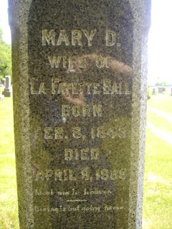 Mary D. <I>DeMoss</I> Ball