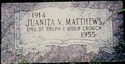Juanita Valerie <I>Churchill</I> Palmer  Matthews
