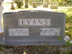 Willie Alma <I>Clark</I> Evans