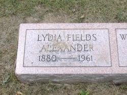 Lydia <I>Fields</I> Alexander