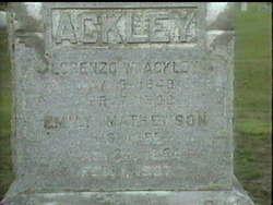 Emily Belle <I>Mathewson</I> Ackley