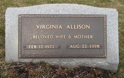 Mary Virginia <I>Allison</I> Allison