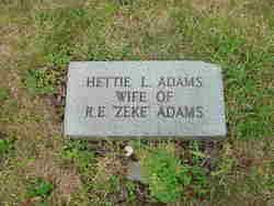 Hettie <I>Lunsford</I> Adams