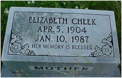 Elizabeth <I>Downey</I> Cheek