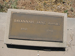 Savannah Jane <I>Teague</I> Adams